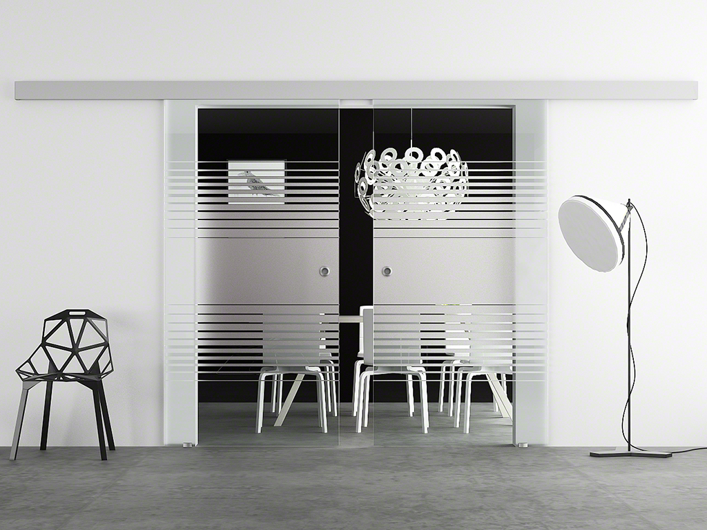 doppel glasschiebet r 2x 775 x 2050mm glast r schiebet r levidor ba2l7m ebay. Black Bedroom Furniture Sets. Home Design Ideas