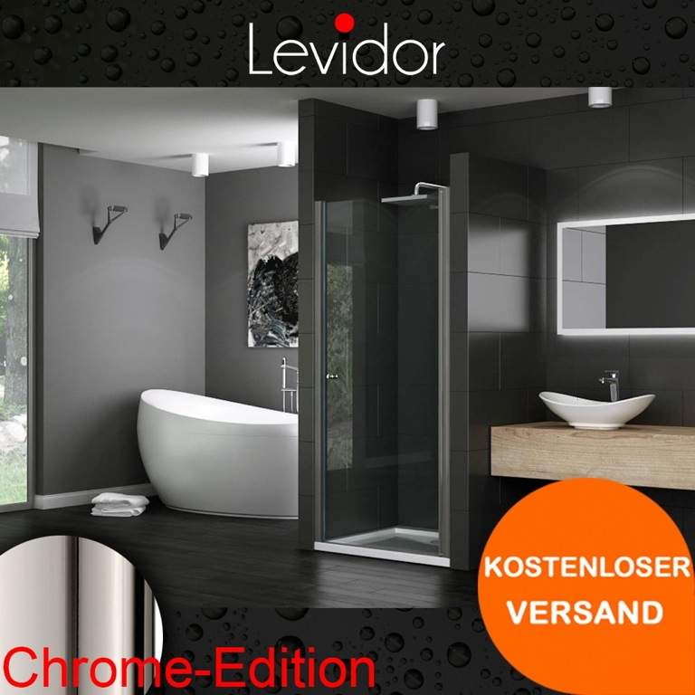 levidor dusche nischent r duscht r nische glas duschkabine. Black Bedroom Furniture Sets. Home Design Ideas