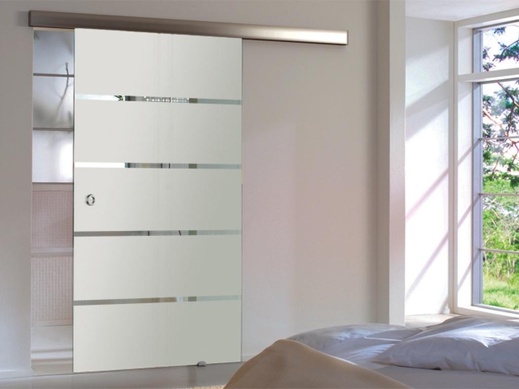 glasschiebet r 4 streifen 900 x 2050mm griffmuschel glas schiebet r t r ba1s9m ebay. Black Bedroom Furniture Sets. Home Design Ideas