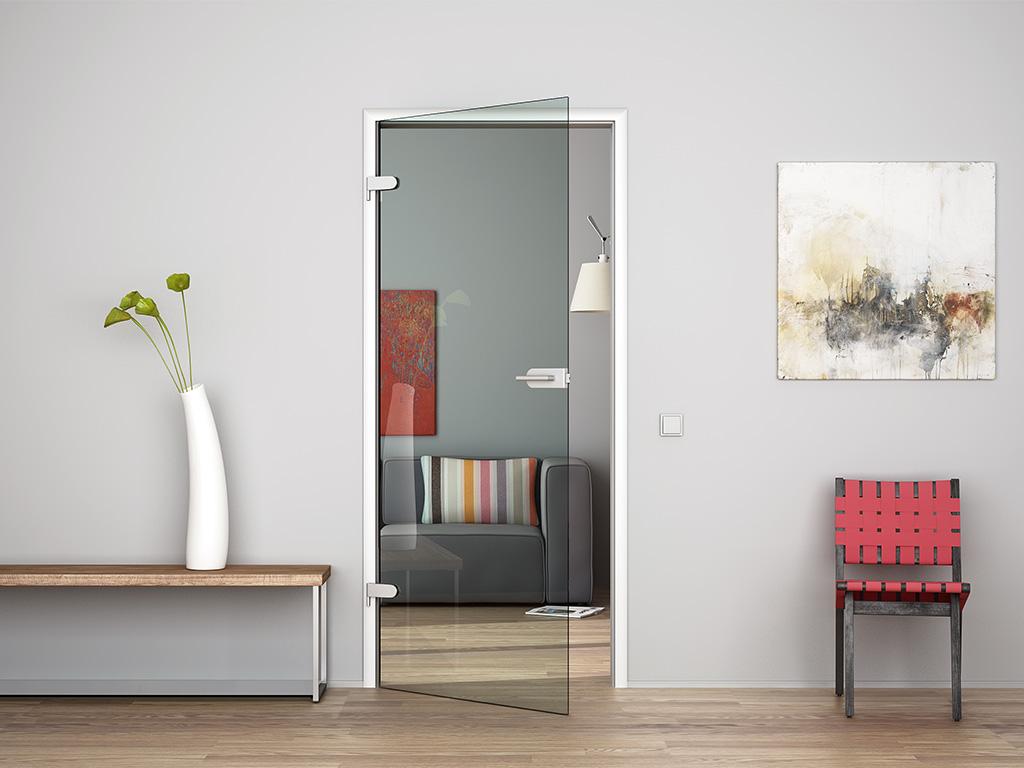glast r klarglas 709 834 oder 959 x 1972 mm glas innent r zimmert r beschlag ebay. Black Bedroom Furniture Sets. Home Design Ideas