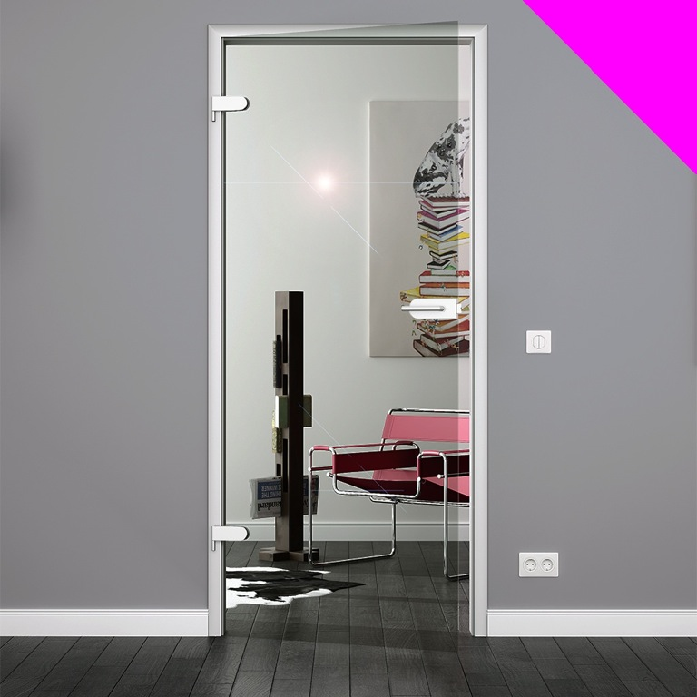 glast r klarglas 834 x 1972 mm glas innent r zimmert r ganzglast r t r. Black Bedroom Furniture Sets. Home Design Ideas