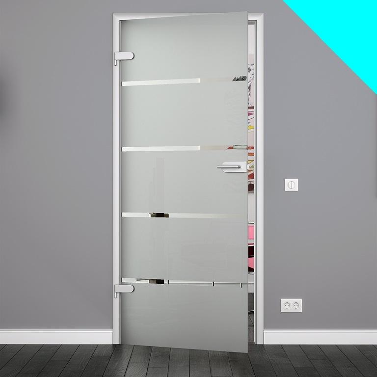 glast r 4 streifen dekor 834 x 1972 mm glas innent r zimmert r ganzglast r ebay. Black Bedroom Furniture Sets. Home Design Ideas