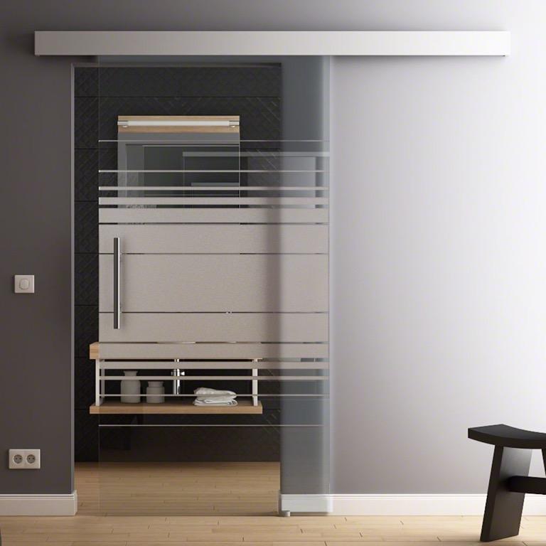 Levidor porta scorrevole vetro design 1025 x 2050mm - Costo porta scorrevole vetro ...
