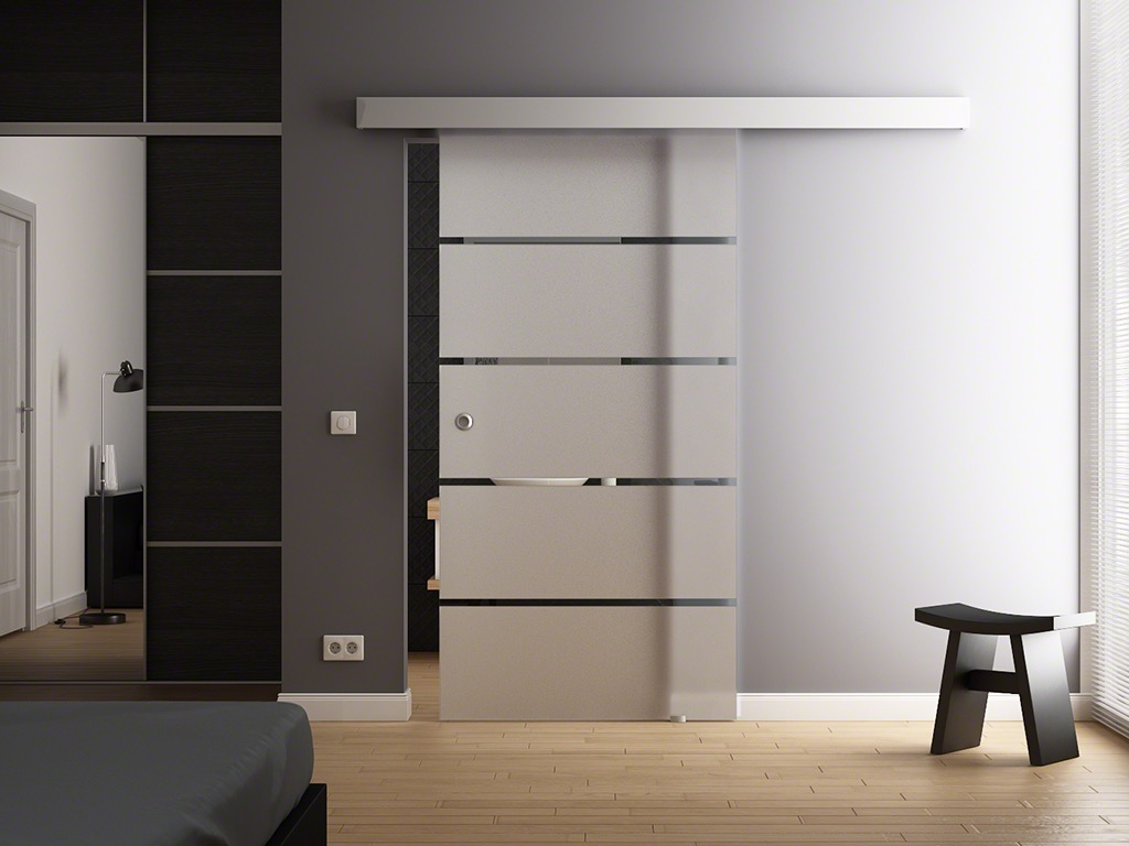levidor slimline glasschiebet r 900 x 2050mm softclose softstop automatik opt ebay. Black Bedroom Furniture Sets. Home Design Ideas