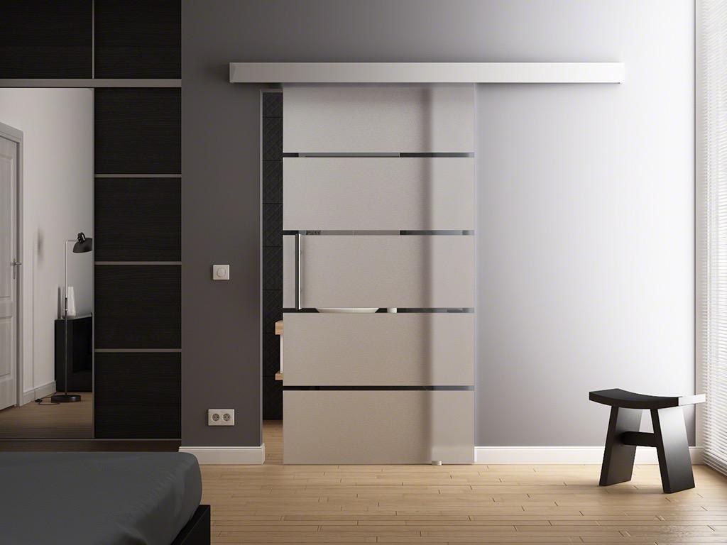 Levidor porta scorrevole vetro strisce 1025 x 2050mm in softclose opt ebay - Costo porta scorrevole vetro ...